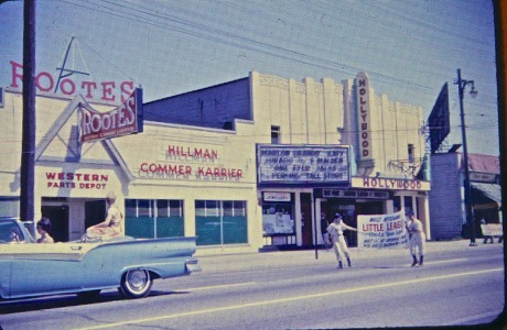 Hollywood Theatre circa 1961. Thanks to the Kits (Now and Then) Facebook Page for the photo.